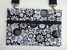 Midnight Blooms Crossbody Hipster Bag Laminated by RockabellaBags, $30.00