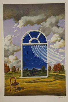 Rafal Olbinski Nocturne in E Flat Major Signed Numbered Fine Art Lithograph Art And Illustration, Fantasy Kunst, Fantasy Art, Head In The Clouds, Surealism Art, Surreal Artwork, Surrealism Painting, Dream Art, Wassily Kandinsky