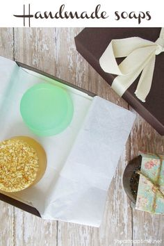 Homemade soaps on I Heart Nap Time... these would make a great gift!