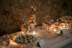 Wedding Dessert Buffet Ideas | Dessert buffet with seashells