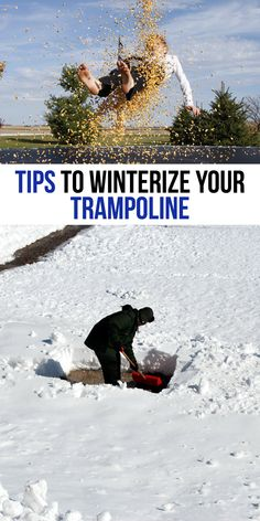 From storage to maintenece tips, read this guide for winterizing trampoline tips to ensure your trampoline does not get ruined in the harsh winter weather! Spring Free Trampoline, Fun Trampoline Games, Toddler Trampoline, Trampoline Springs, Rebounder Trampoline, Trampoline Party, Outdoor Trampoline, Trampoline Workout
