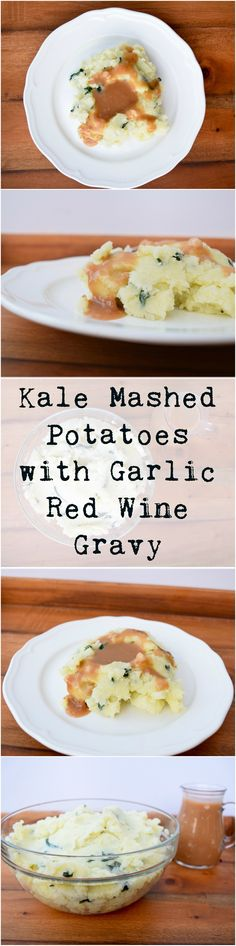 Creamy and smooth vegan mashed potatoes get a boost with amazing red wine and garlic gravy. Vegan Foods, Vegan Snacks, Vegan Dishes, Delicious Vegan Recipes, Vegetarian Recipes, Healthy Recipes, Healthy Food, Dairy Free Mashed Potatoes, Red Wine Gravy