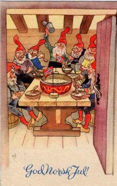 Gammelt tradisjons julekort