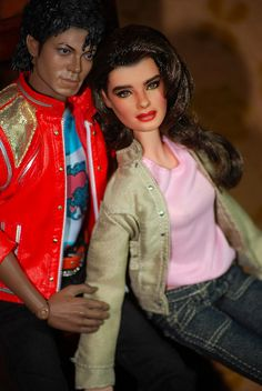 Brooke Shields & Michael Jackson/T is for TWO by FarrahF, via Flickr