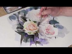 How To Paint Watercolour White Roses by Trevor Waugh - YouTube
