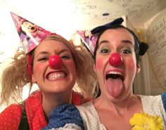 Clown sisters Morro and Jasp host Derrick Chua's B-Day party. Female Clown, Sister Love, 50th, Carnival, Sisters, Face, Party, Carnavals, The Face