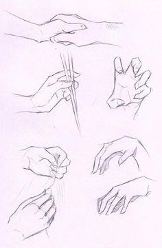Hands Stock Practice 1 by Azizla.deviantart.com on @DeviantArt