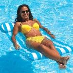Blue Wave Swimline Premium Water Hammock Pool Float - Relax while drifting in your pools cooling waters with the Swimline Premium Water Hammock Pool Float . Ergonomically designed with head and foot rests,. Water Hammock, Pool Lounge Chairs, Dining Chairs, Water Time, Pool Rafts, Swimming Pool Water, Pool Fun, Vinyl Pool, Relax
