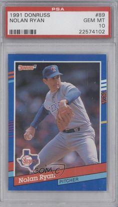 1991 Donruss #89 Nolan Ryan PSA 10 Texas Rangers Baseball Card | Sports Mem, Cards & Fan Shop, Sports Trading Cards, Baseball Cards | eBay!