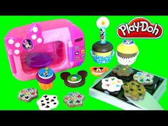 Mickey Mouse Sweet Treats Wooden Play Food Set Play Doh Minnie Magic Oven Cookies Cupcakes Brownies - YouTube