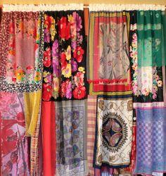 Handmade Gypsy Curtains by BabylonSisters White Lace Curtains, Lace Curtain Panels, Panel Curtains, Scarf Curtains, Gypsy Curtains, Gypsy Decor, Boho Decor, Gypsy Chic, Gypsy Life