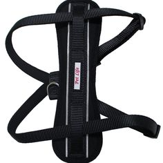 Pet Life Mountaineer Chest Compression Adjustable Reflective Easy Pull Dog Harness - HA2BKSM