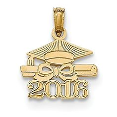 10k Yellow Gold Rn Caduceus Charm With Lobster Claw Clasp Charms for Bracelets and Necklaces