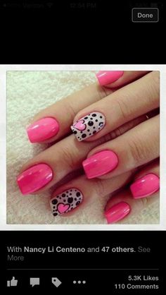 Get ready for some manicure magic as we bring you the hottest nail designs from celebrities, beauty brands and the catwalks Fancy Nails, Love Nails, Pink Nails, Pretty Nails, My Nails, Girls Nails, Heart Nail Designs, Simple Nail Designs, Nail Art Designs