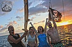 Visit #Nicaragua #explore by Pirate Ship. TwoGuysAdventures.com   #travel #wanderlust #boat #sanjuandelsur #tropics #sunshine #vacation #luxury #boozecruise #sunset #endlesssummer