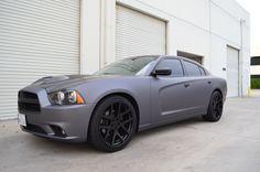 2012 Dodge charger matte dark gray