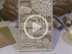 Mural Art Video Tutorials - by Muralguru Bharat Rawal Clay Wall Art, Mural Wall Art, Mural Painting, Fabric Painting, Texture Painting, Paintings, Clay Art Projects, Plaster Art, Art N Craft