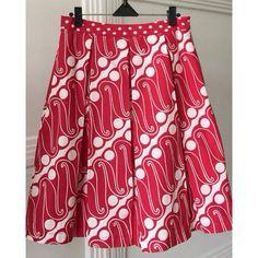 Batik Skirt, Red Parang.