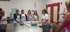 Our instructor Gabby kicking off our Spinach Ravioli classes! http://classes.carlosbakery.com/cooking-classes.html