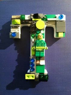 Custom Lego letter 5 inches by 4 inches T by MosaicTreasureBox