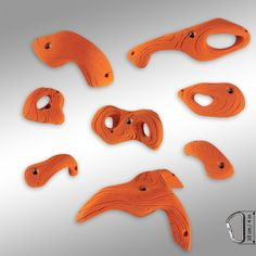 ROOF RINGS - set of climbing holds by HRT climbing... great for beginner climbers on steep terrain