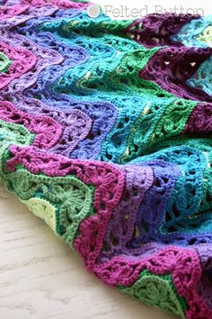 Felted Button - Colorful Crochet Patterns: Brighton Blanket Free Crochet Pattern