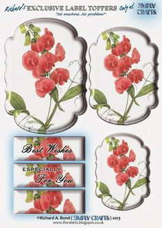 SIMPLY CRAFTS Make Your Own Labels, Printable Paper, Printable Vintage, Free Printable, Gift Wraping, 3d Sheets, 3d Pictures, 3d Craft, Do It Yourself Projects