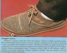 Resultado de imagen para zapatos de mujer tejidos a crochet