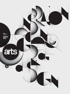 'Qalto typeface' typographic poster by Áron Jancsó (Budapest, Hungary) Typographic Poster, Typography Logo, Graphic Design Typography, Graphic Art, Typography Served, Web Design, Design Art, Composition D'image, Inspiration Typographie