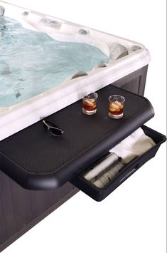 Leisure Concepts Smart Bar for Hot Tubs - Pool Supplies Canada Hot Tub Bar, Hot Tub Deck, Hot Tubs, Smart Bar, Hot Tub Accessories, Lighted Centerpieces, Outdoor Living Areas, Outdoor Spaces, Outdoor Ideas