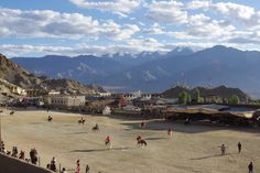 Leh Polo Ground in India - Polo matches and competitions are regularly held in Leh, Ladakh where polo is extremely popular. Polo Grounds, Leh Ladakh, Polo Match, Sports Training, Fields, Competition, Around The Worlds, Passion, India