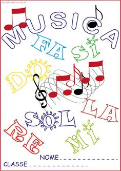 Copertine per quaderni da colorare: musica | Genitorialmente Teaching Music, Music Education, Musicals, Notes, School, Crafts, Fictional Characters, Google, Photography