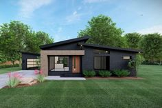 Small Modern Home, Small Contemporary House Plans, Contemporary Houses, Small Modern House Exterior, Contemporary Architecture, Sustainable Architecture, Modern House Facades, Pavilion Architecture, Contemporary Style Homes