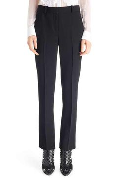Givenchy Straight Leg Crop Wool Trousers