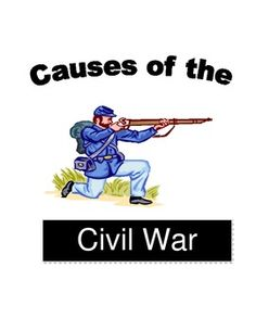 Us civil war causes and effects 1861 1877 the civil war this packet includes a one page reading comprehenstion on causes or issues that led to the civil war as well as comprehension questions including five fandeluxe Choice Image