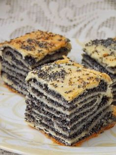 how to bake katlama with poppy seeds - - Russian Desserts, Russian Recipes, Mini Desserts, Delicious Desserts, Yummy Food, Russian Foods, Gourmet Recipes, Sweet Recipes, Baking Recipes