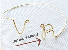 Beautiful handcrafted initial bangle!  Such beautiful work!  Great gifts!