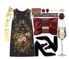 """Happy New Year!!!"" by karllydolly ❤ liked on Polyvore featuring Givenchy, Gianvito Rossi, Henri Bendel, Jimmy Choo, Kendra Scott, NARS Cosmetics, Cynthia Rowley, Dolce&Gabbana, Krosno and 2017"