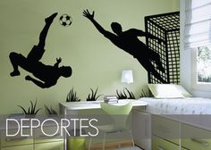 Soccer Bedroom, Football Field, Kids Room, Design, Home Decor, Bottle, Sports, Diy, Football Bedroom