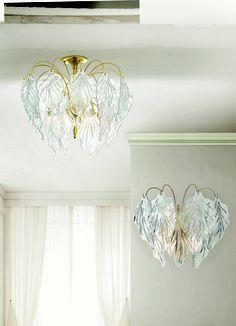 #Lampadario a soffitto e #lampada da parete. Scopri tutta la collezione qui --> http://www.lamexport.it/web/collections/?cat=vd