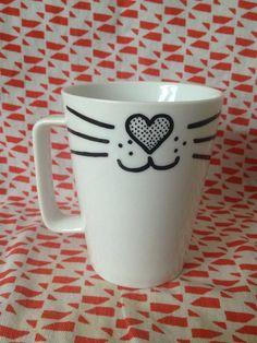 Valentines Day Cat Mug  on Etsy, $12.00