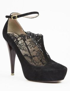 Nina Ricci Black Lace Insert Booties <3 L.O.V.E.