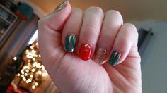 Christmas nails. Jamberry: #frostedforestjn #candyapplejn #partydressjn #designdimensionsjn