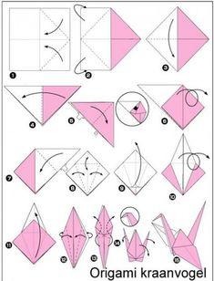 Ideas For Origami Mobile Baby Diy Origami Rose, Instruções Origami, Origami And Quilling, Origami Dragon, Origami Bookmark, Origami Bird, Useful Origami, Origami Animals, Origami Design