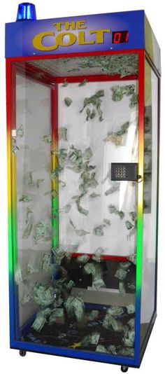Mini Money Blowing Booth Can Sit On A Table Top Money