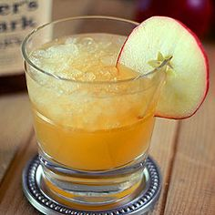 The perfect fall cocktail. Apple cider, bourbon and ginger ale.