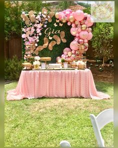 Butterfly Garden Party for Girls Butterfly Garden Party, Butterfly Birthday Party, 1st Birthday Party For Girls, Butterfly Baby Shower, Girl Birthday Themes, Baby Girl Shower Themes, Girl Baby Shower Decorations, Birthday Party Decorations, Baby Shower Parties