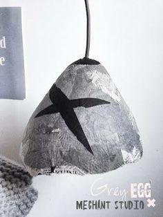 Grey EGG lamp by MechantStudio on Etsy, €130.00