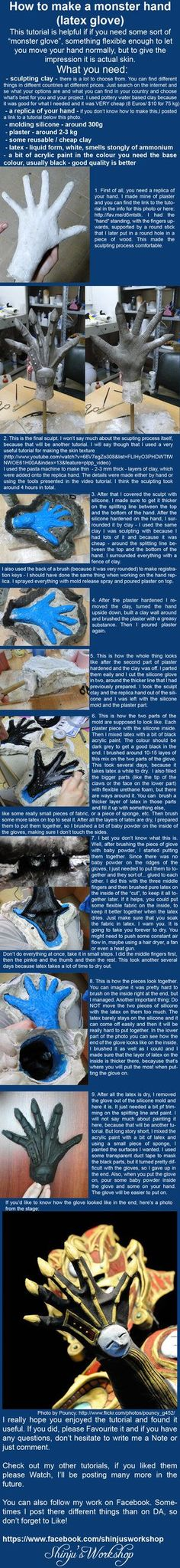 """monster hand"" latex glove tutorial"