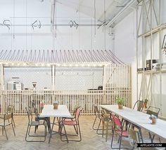 Royal College of Art Student Union Cafe // Weston Surman & Deane Architecture | Afflante.com